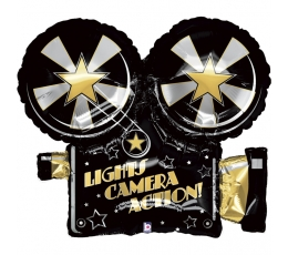 """Folija balons  """"Lights.Camera.Action"""" (81 cm)"""