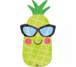 """Folija balons """"Līksmais ananass"""" (30 x 66 cm)"""
