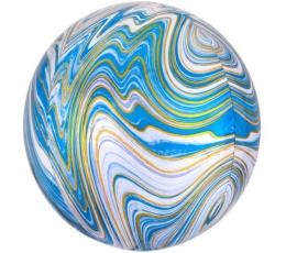 Folija balons, marblez gaiši zils (38x40cm)