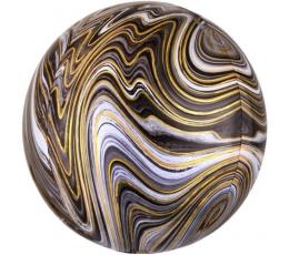 Folija balons, marblez melns (38x40cm)