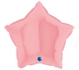 "Folija balons, matēta  ""Rozā zvaigzne"",  (46 cm)"