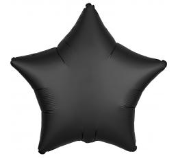 "Folija balons ""Melna zvaigzne"", matēta (43 cm)"