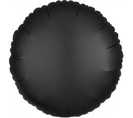 """Folija balons """"Melns aplis"""", matēts (43 cm)"""
