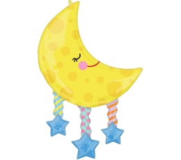 "Folija balons ""Mēness ar zvaigznēm"" (63 x 96cm)"