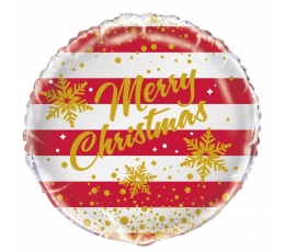 """Folija balons """"Merry Christmas"""" (45 cm)"""