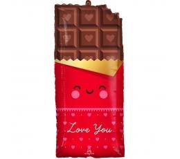 """Folija balons """"Mīlas šokolāde"""" (33 x 71cm)"""