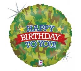 """Folija balons """"Militārā dzimšanas diena"""", hologrāfisks (46 cm)"""