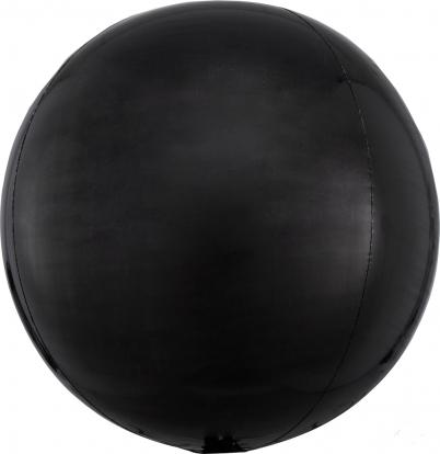Folija balons-orbz, melnā krāsā (38 cm)