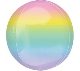Folija balons-orbz, pasteļkrāsas ombre  (38 cm)