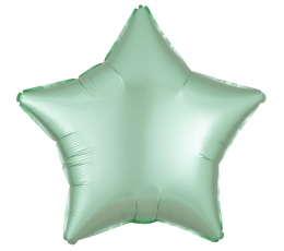"""Folija balons """"Piparmētras krāsas zvaigzne"""", matēta (43 cm)"""