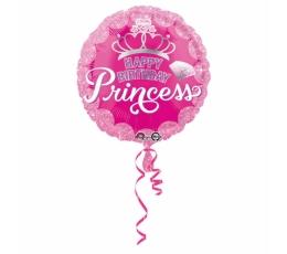 """Folija balons """"Princeses kronis - Happy Birthday"""" (43 cm)"""