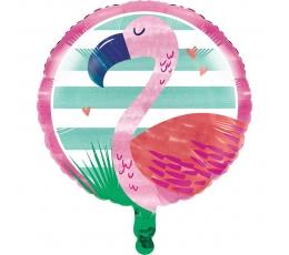 "Folija balons ""Rozā flamingo"" (45 cm)"