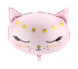 """Folija balons """"Rozā kaķis"""" (48 x 36 cm)"""
