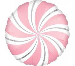 "Folija balons ""Rozā konfekte"" (45 cm)"