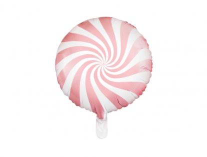 "Folija balons ""Rozā konfektīte""  (45 cm)"