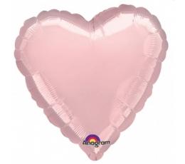 "Folija balons ""Rozā sirds"" (1 gab./ 13*12 cm)"
