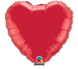 "Folija balons ""Sarkana sirds"" (36 x 91 cm./ BEZ IEPAKOJUMA)"