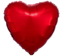 """Folija balons """"Sarkana sirds"""" (43 cm)"""