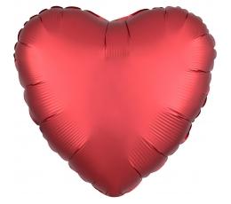"""Folija balons """"Sarkana sirds"""", matēta  (43 cm)"""