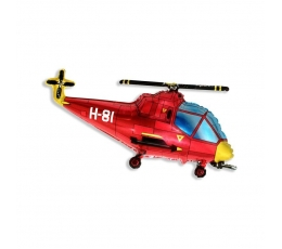 "Folija balons ""Sarkanais helikopters"" (60 cm)"