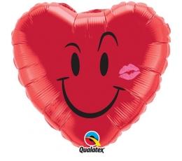 """Folija balons """"Smaidiņš ar buču"""" (18 x 46 cm)"""