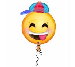 """Folija balons """"Smaidiņš ar cepuri"""" (43 cm)"""