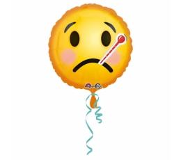 """Folija balons """"Smaidiņš - slimnieks"""" (43 cm)"""