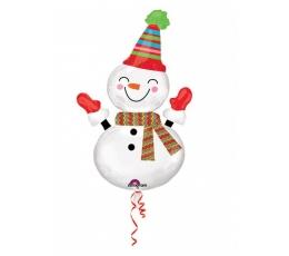 """Folija balons """"Sniegavīrs""""  (60 cm. x 91 cm.)"""