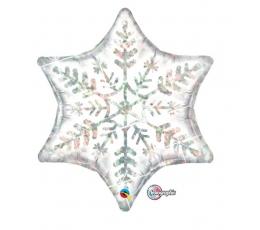 """Folija balons """"Sniegpārsla"""" (91 cm)"""