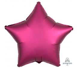 "Folija balons ""Spilgti rozā zvaigzne"", matēta (43 cm)"