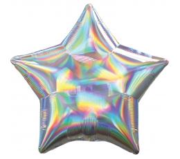"Folija balons ""Sudraba zvaigzne"", hologrāfiska"