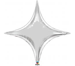 "Folija balons ""Sudraba zvaigzne"" / rombs (97cm x 106cm)"