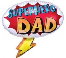"Folija balons ""Superhero Dad"" (68 x 66cm)"