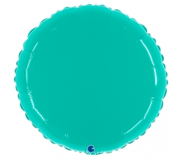 "Folija balons ""Tirkīza aplis (53 cm)"