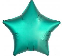"""Folija balons """"Tirkīzzilā zvaigzne"""", matēta (43 cm)"""