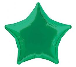 "Folija balons ""Tumši zaļa zvaigzne"" (48 cm)"