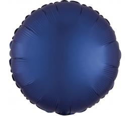 """Folija balons """"Tumši zils aplis"""", matēts (43 cm)"""