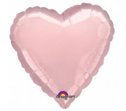 """Folija balons uz nūjiņas """"Sirds"""", rozā (23cm)"""