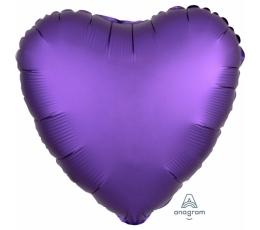 """Folija balons """"Violēta sirds"""", matēta (43 cm)"""