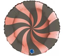 """Folija balons """"Virpulis"""", pelēks - rozā zelta (46 cm)"""