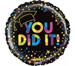 """Folija balons '""""You did it!"""" (53 cm)"""
