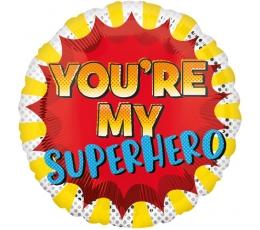 "Folija balons ""You're my Superhero"" (43 cm)"