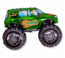"""Folija balons """"Zaļš apvidus auto"""" formā (60 cm)"""