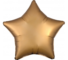 "Folija balons ""Zelta zvaigzne"", matēta (48 cm)"