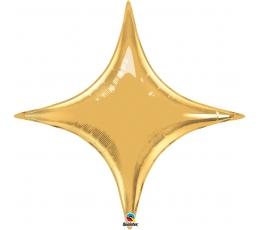 "Folija balons ""Zelta zvaigzne"" / rombs (51 x 27cm)"