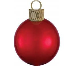 """Folija balons """"Ziemassvētku eglītes rotājums"""", sarkans (38cm x 50cm)"""