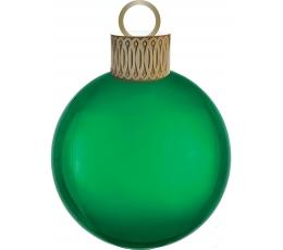 """Folija balons """"Ziemassvētku eglītes rotājums"""", žaļš (38cm x 50cm)"""