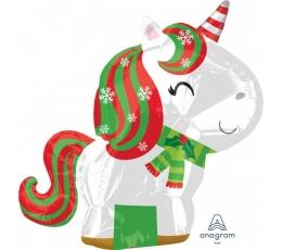 """Folija balons """"Ziemassvētku vienradzis"""" (43 cm x 53 cm)"""