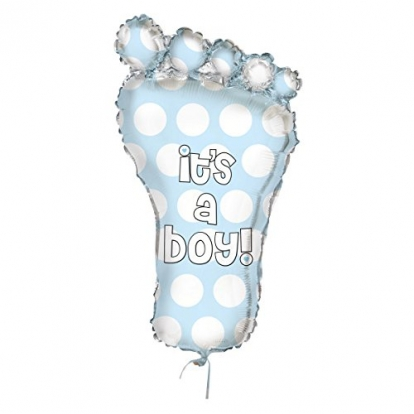"""Folija balons """"Zila pēdiņa"""" (78 cm)"""