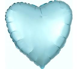 "Folija balons ""Zila sirds"", matēta (43 cm)"